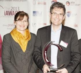 Richard Buckland wins ICT Educator of the Year Award -Photo Credit iAwards http://www.iawards.com.au/