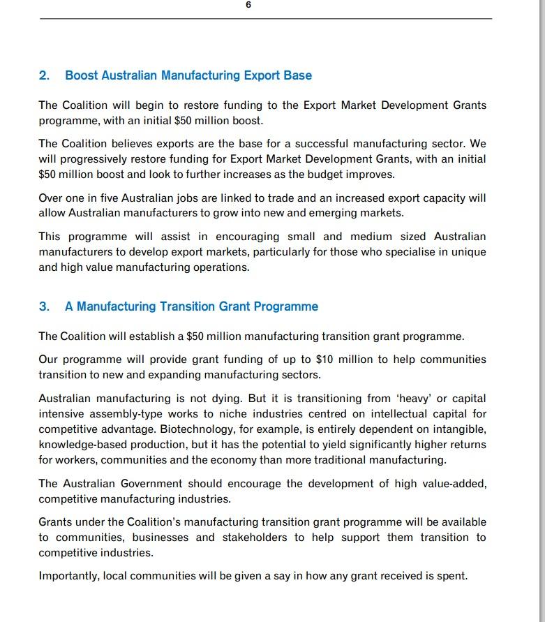 Manufacturing pt 1