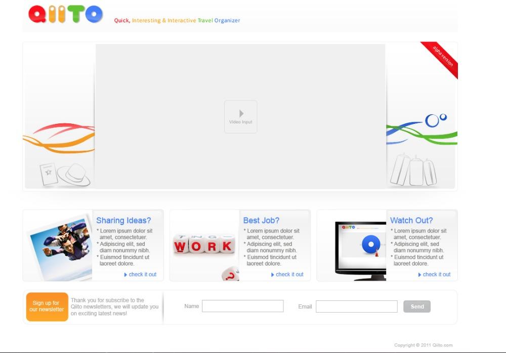 Prototype Beta Screenshot of Qiito.com