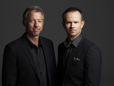 Phil Morle & Mick Liubinskas (looking very dapper) Credit Pollenizer.com