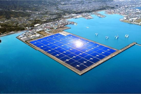 Kyocera 70MW Solar Plant - Artist Impression in 2012 - Credit Kyocera.com