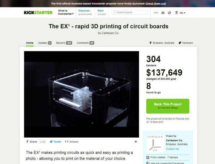 EX1-3d Circuit Board Printer - Kickstarter