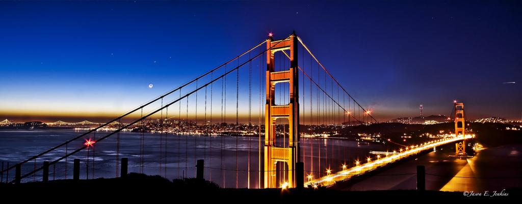 Golden Gate Twilight - Credit - http://www.flickr.com/photos/jdub1980/