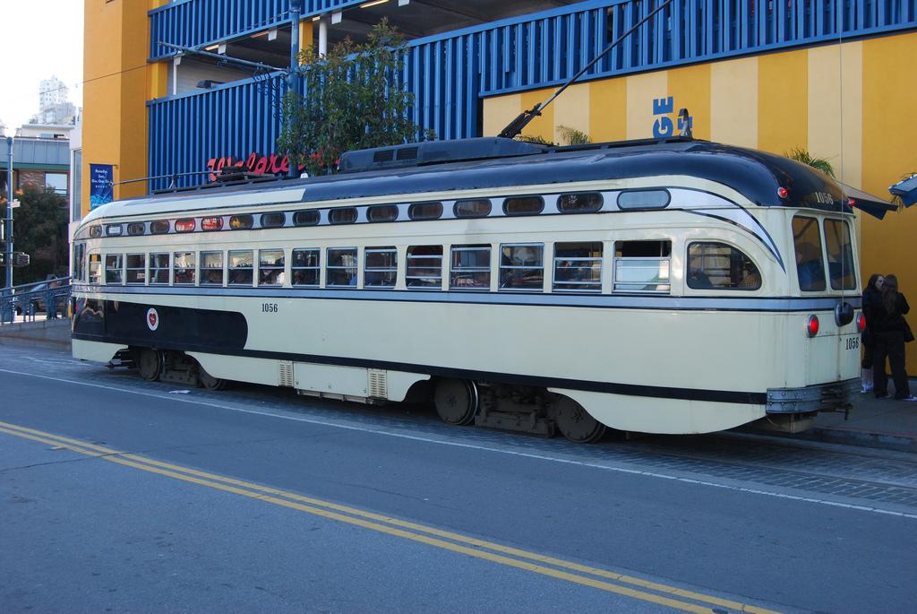 MUNI with old restored Trams http://www.flickr.com/photos/pfsullivan_1056/