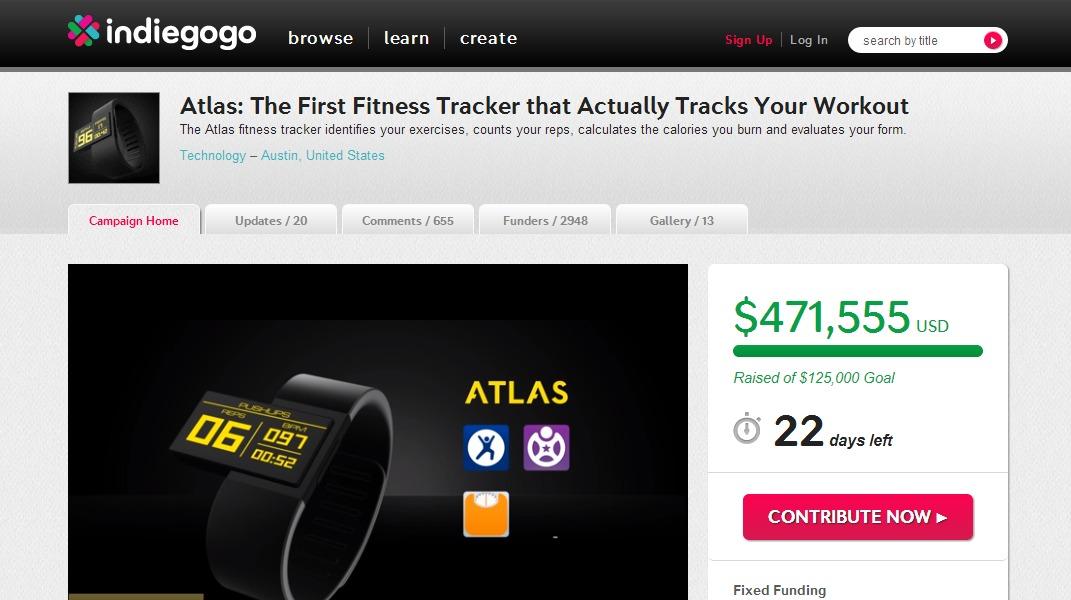 Atlas Campaign - Indigogo.com