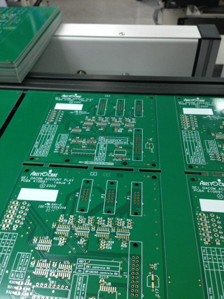 Boards on Assembly Line