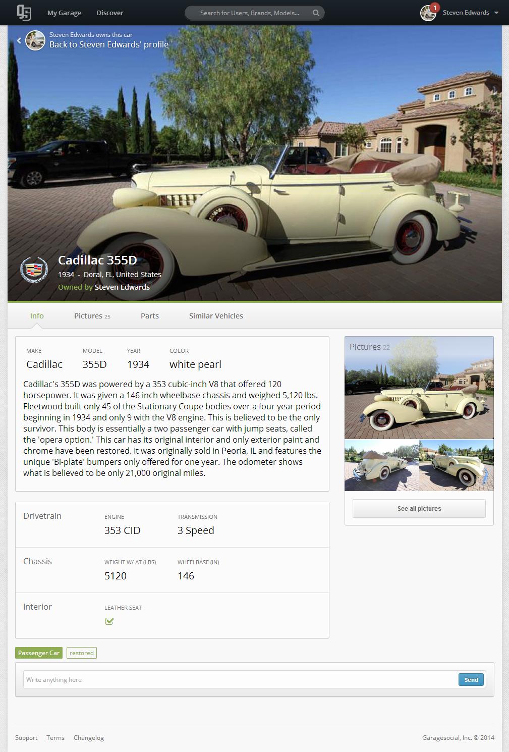 Cadillac 355 D