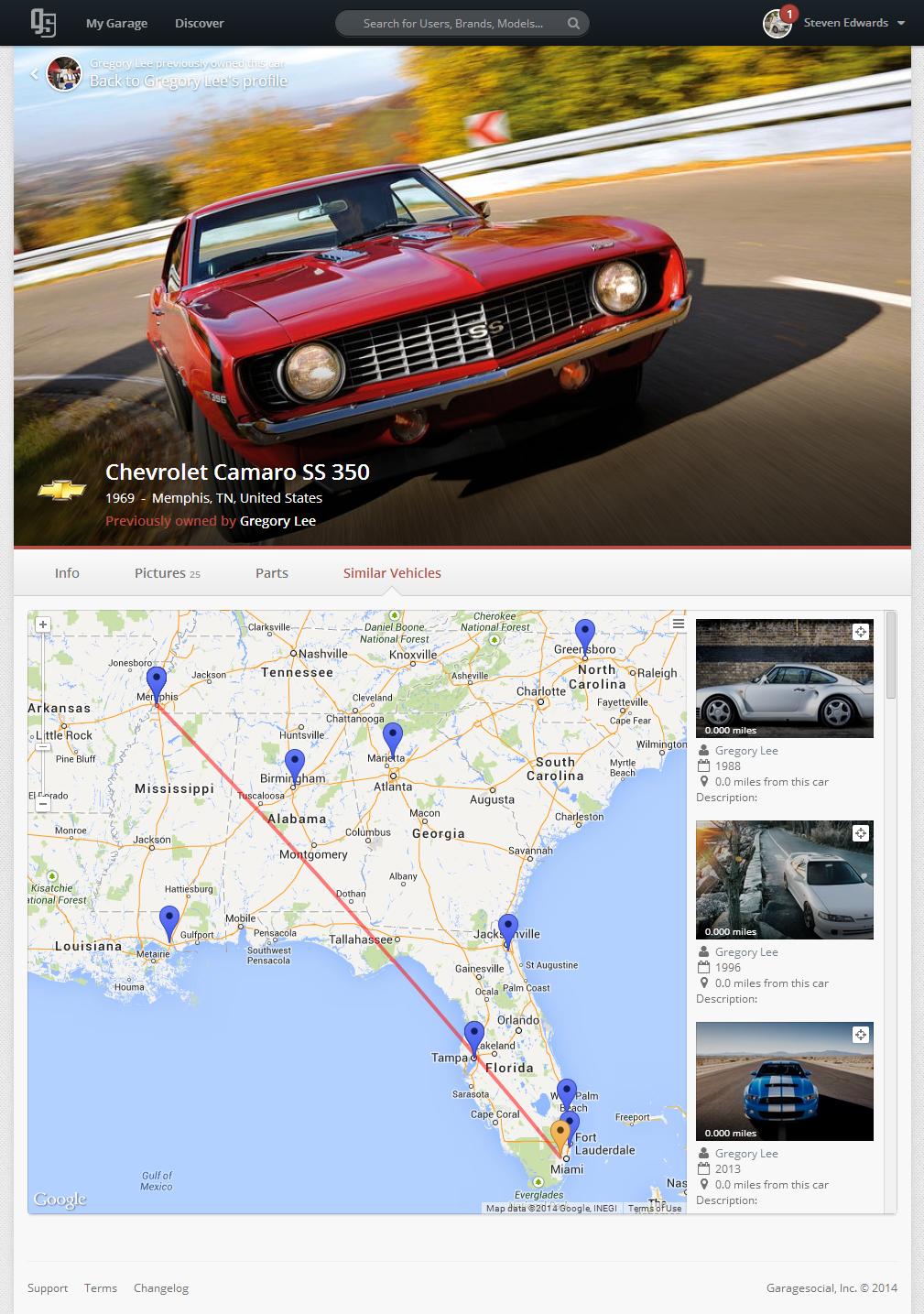 Chevrolet Camaro SS 350 Map