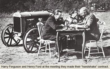 Ferguson and Ford, the handshake agreement