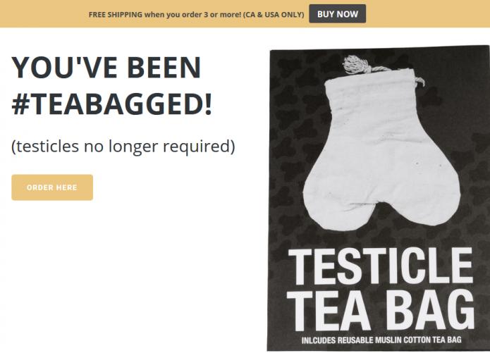 Testicle Tea Bag
