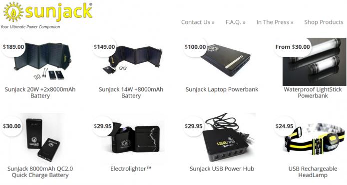 SunJack Portable Power