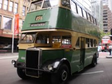 Double decker bus on Sydney roads