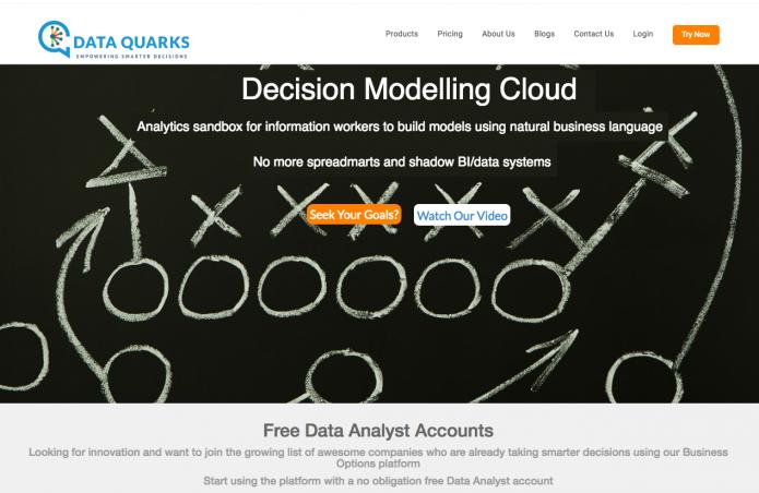 DataQuarks Decision Modelling Cloud